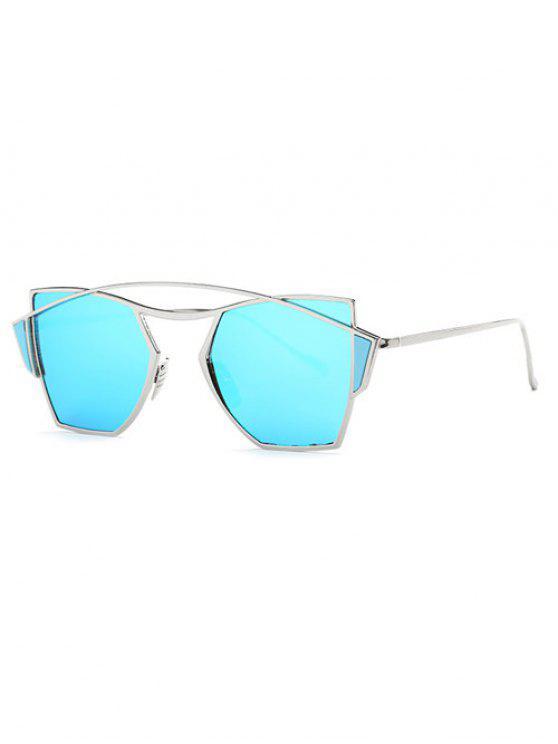 Gafas de sol de espejo travesaño irregular - Azul