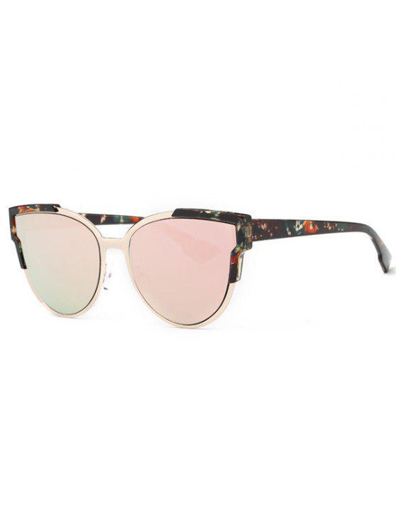 latest Print Cat Eye Mirrored Sunglasses - PINK