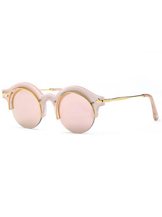 Rosada de la ceja del espejo gafas de sol - Rosa