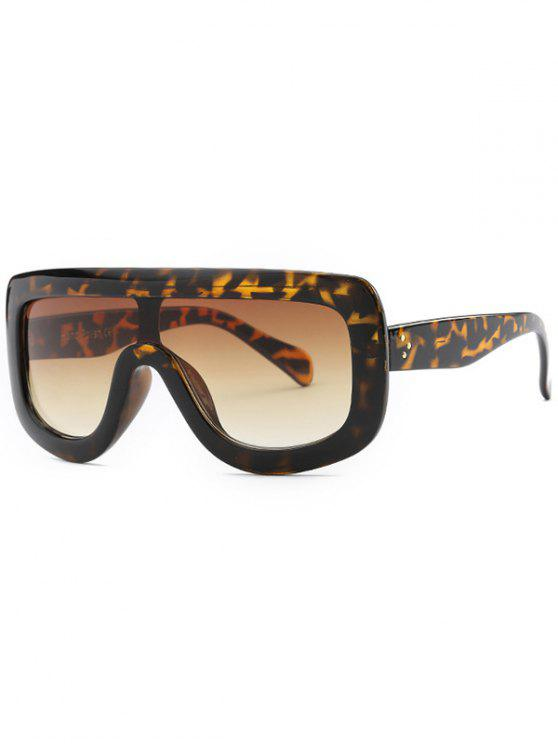Kühle Integrierte übergroße Sonnenbrille - Dunkelbraun