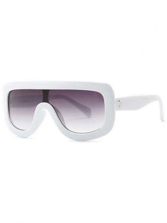 lady Cool Integrated Oversized Sunglasses - WHITE
