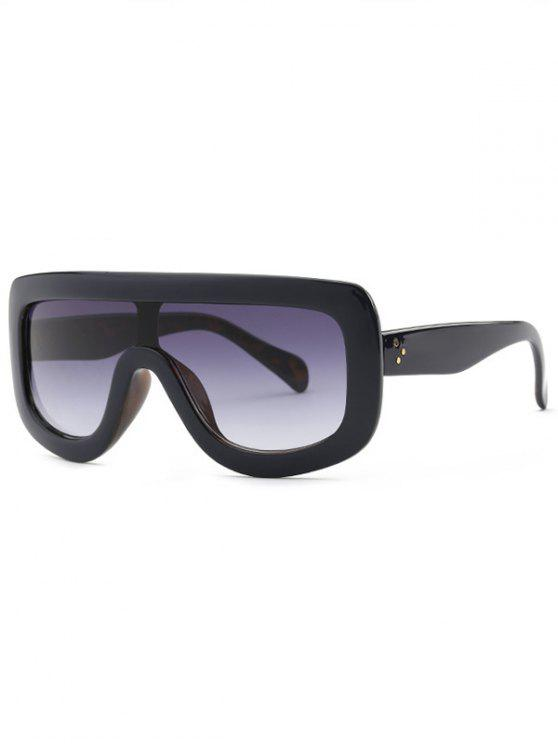 best Cool Integrated Oversized Sunglasses - INK PAINTING