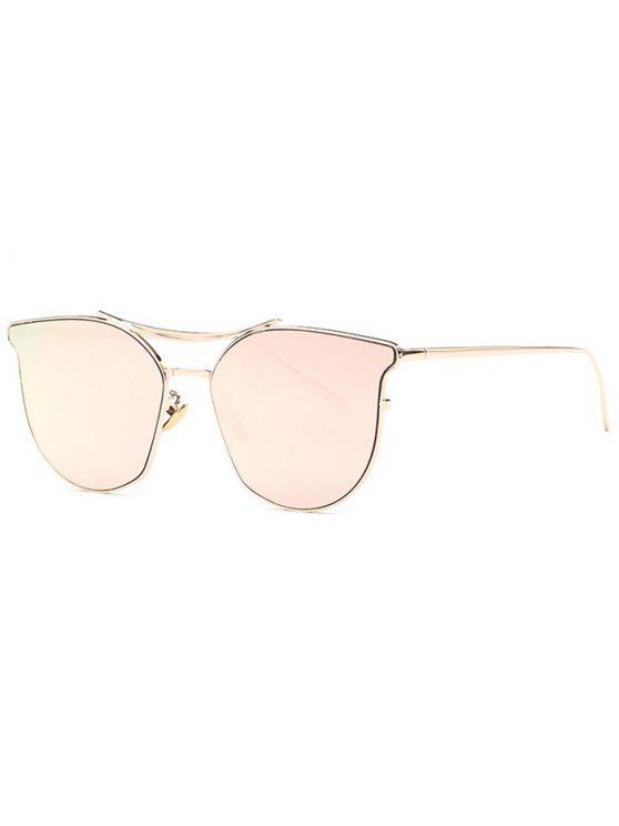 Lunettes de soleil verres miroir cat eye de pilote - Or Rose