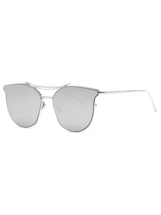 new Pilot Cat Eye Mirrored Sunglasses - SILVER