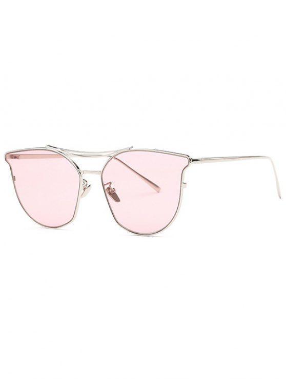 shop Full Frame Pilot Sunglasses - PURPLISH RED