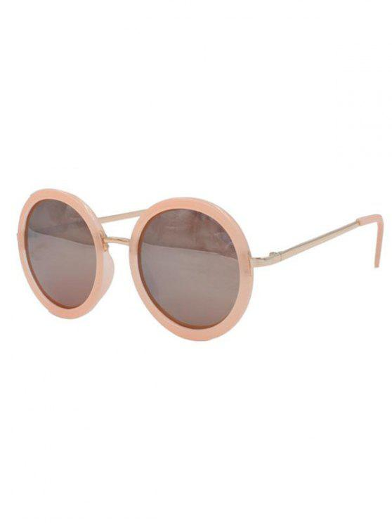 shops Round Pink Mirrored Sunglasses - PINK