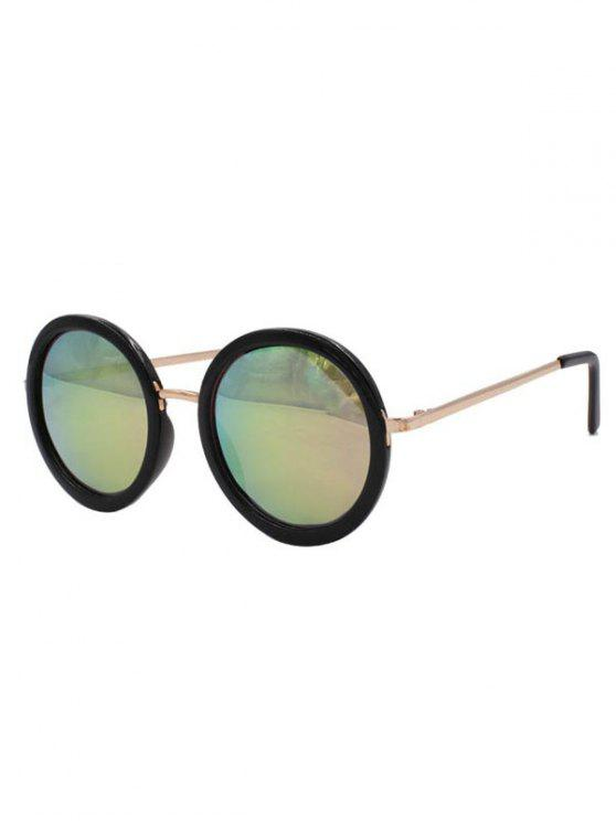 latest Colorful Round Mirrored Sunglasses - COLORMIX