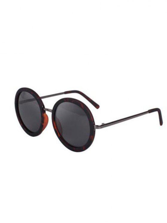 fashion Retro Print Round Sunglasses - HAWKSBILL