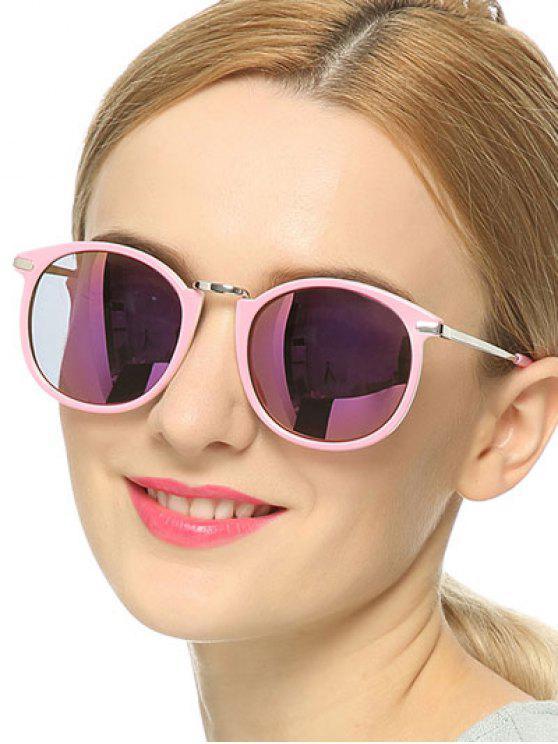 women Polarized Mirrored Sunglasses - PINK