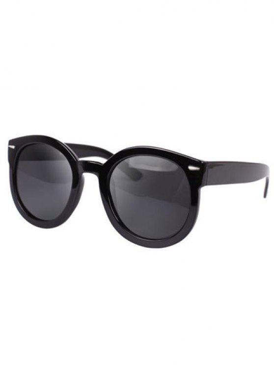 best Simple Black Frame Sunglasses - GRAY