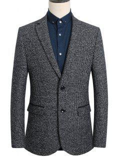 Lapel Single-Breasted Vintage Long Sleeve Blazer For Men - Deep Gray 3xl