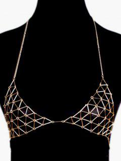 Triangle Bra Body Chain - Golden