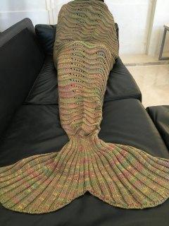 Manta Multicolor De Diseño Sirena Para Adulto - Marrón Claro
