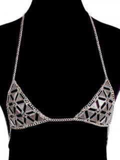 Bra Triangle Body Chain - Silver
