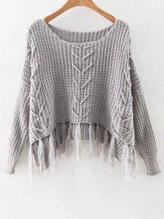 Haut Bas Glands Cropped Sweater - Gris