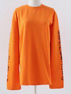 Carta De Cuello Redondo De La Camiseta Floja - Naranja Dulce M