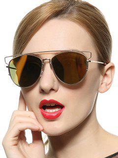 Découpez Out Pilot Mirrored Sunglasses - Jaune