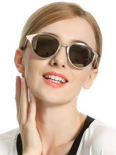 Mirror Cat Eye Sunglasses - Golden