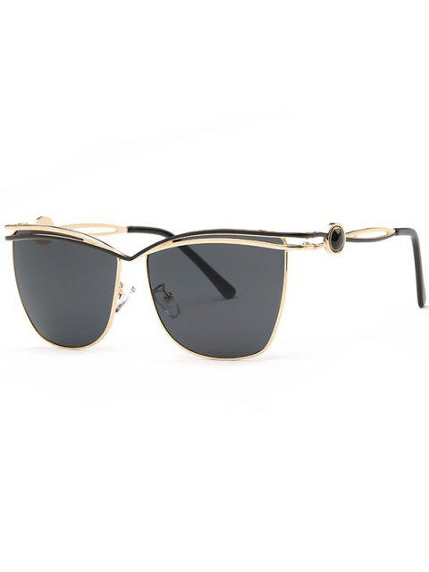 unique Crossbar Cut Out Sunglasses - BLACK GREY  Mobile
