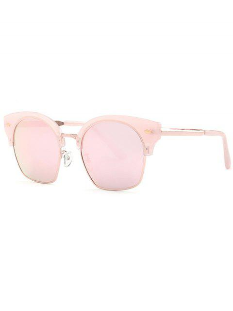 affordable Trendsetter Pink Mirrored Sunglasses - PINK  Mobile