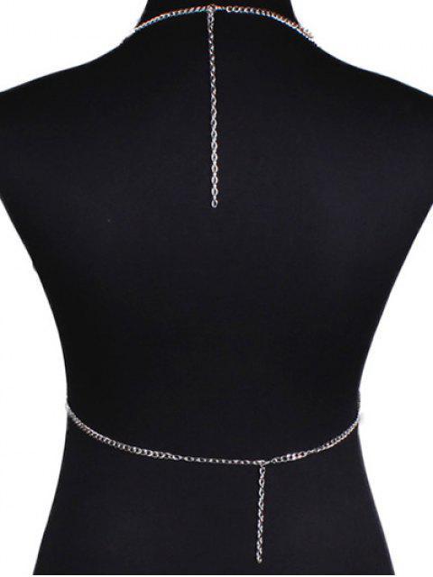 fashion Bra Triangle Body Chain - SILVER  Mobile