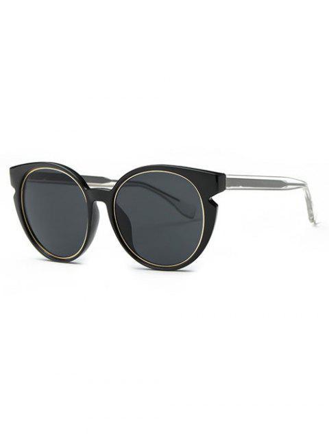 fancy Retro Cat Eye Sunglasses - BLACK GREY  Mobile