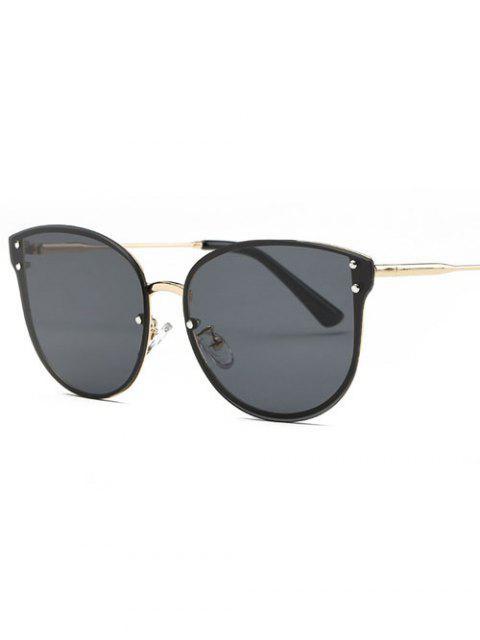 Gafas de sol de gran tamaño sin marco - Negro Gris  Mobile