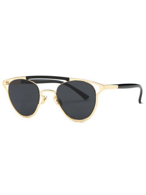 shops Cut Out Pilot Sunglasses - GRAY  Mobile