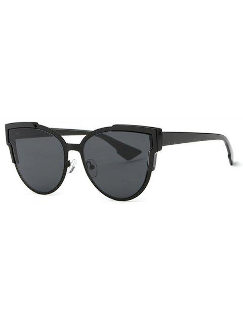 chic Trendsetter Print Cat Eye Sunglasses - BLACK GREY  Mobile
