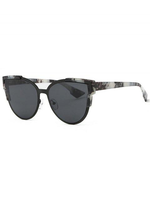 fancy Trendsetter Print Cat Eye Sunglasses - GRAY  Mobile