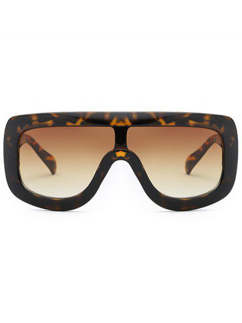 women's Cool Integrated Oversized Sunglasses - TEA-COLORED  Mobile