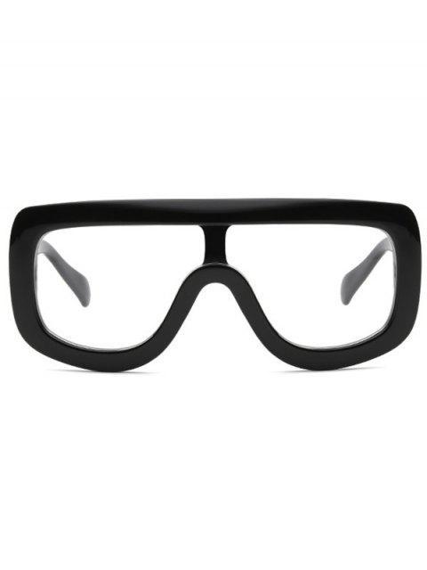 ladies Cool Integrated Oversized Sunglasses - BLACK  Mobile
