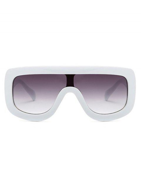 lady Cool Integrated Oversized Sunglasses - WHITE  Mobile