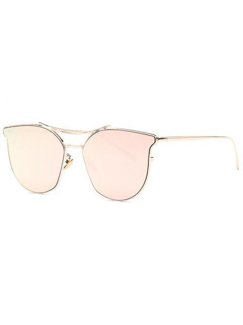 online Pilot Cat Eye Mirrored Sunglasses - ROSE GOLD  Mobile