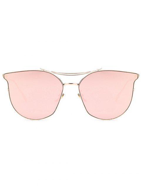 online Pilot Cat Eye Mirrored Sunglasses - ROSE GOLD  Mobile