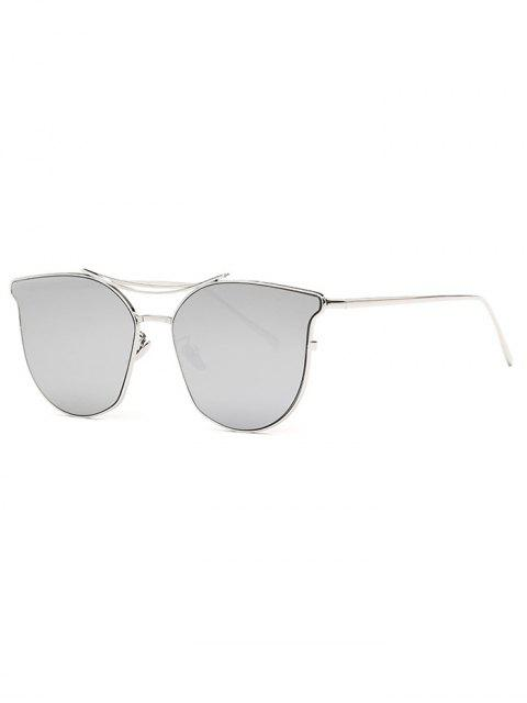 new Pilot Cat Eye Mirrored Sunglasses - SILVER  Mobile