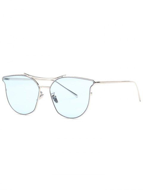 outfit Full Frame Pilot Sunglasses - BLUE  Mobile