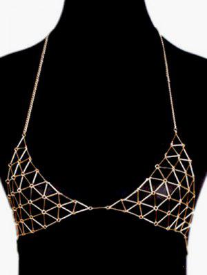 Chain Triangle Body Bra - Or
