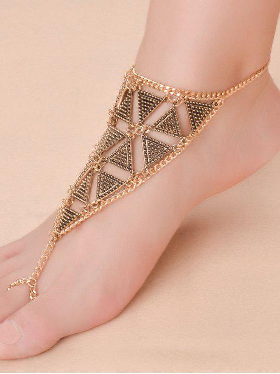 women's Alloy Triangle Anklet - GOLDEN