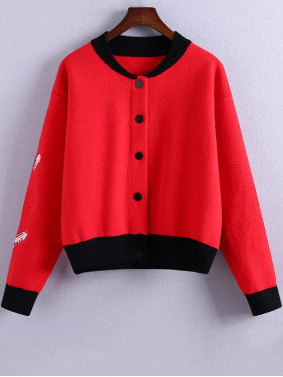 Broderie Stand de cou Hit Jacket couleur - Rouge Taille Unique