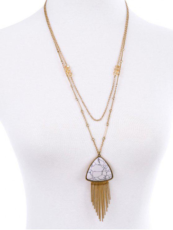 shop Fringle Layered Necklace - PLATINUM