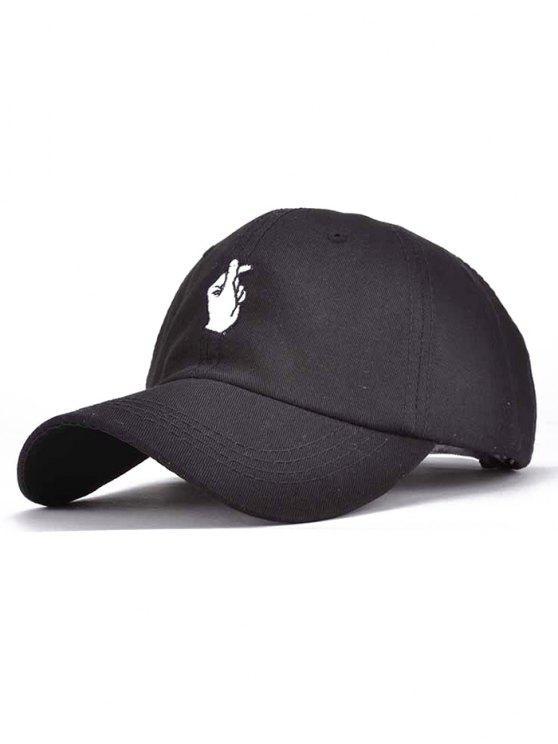 online Love Gesture Embroidery Baseball Cap - BLACK