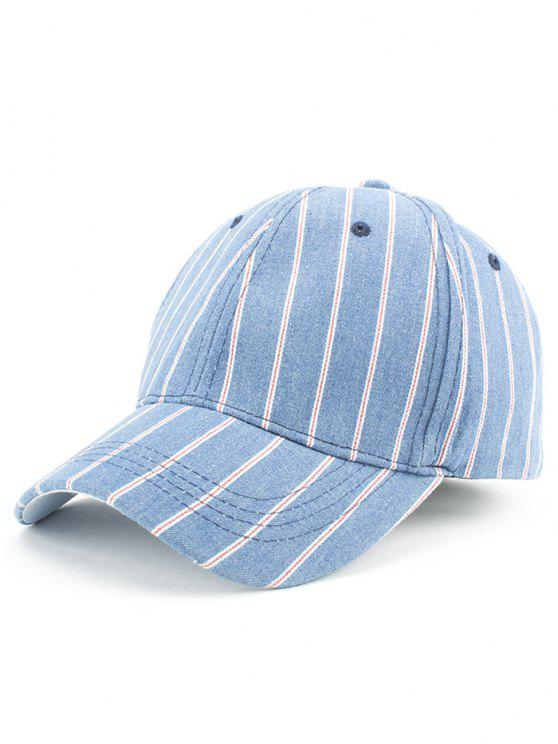 06b5cae5687 31% OFF  2019 Vertical Stripe Baseball Cap In LIGHT BLUE