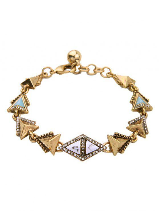 best Rhinestone Triangle Bracelet - GOLDEN