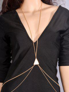 Triangle Faux Turquoise Body Chain - White And Golden