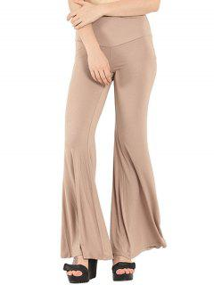 Pure Color Boot Cut Yoga Pants - Apricot S