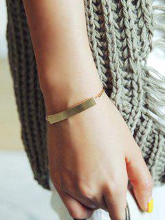 Bar Cuff Bracelet - Golden