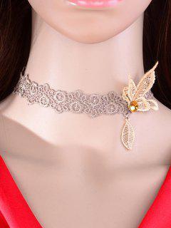 Butterfly Leaf Choker - Dun