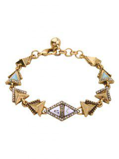 Rhinestone Triangle Bracelet - Golden