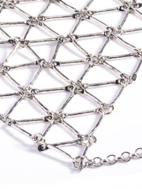shop Triangle Body Chain - SILVER  Mobile